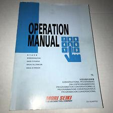 Mori Seiki Conversational Programming Cnc Lathe Operation Manual Msx 501 502 850