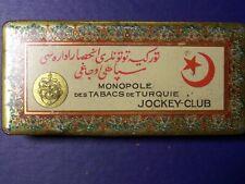 Vintage Original Jockey-Club Cigarette Tin 1930's  FREE SHIP