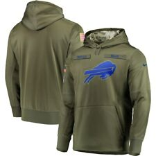 2020 Buffalo Bills Olive Salute to Service Sideline Therma Hoodie Pullover
