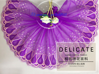 Floral Tulle Lace Trim Ribbon Embroidery Flower Wedding Fabric Sewing DIY FL261