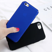 For iPhone 8 7 X Plus 6 5 SE Ultra Thin Shockproof Hard Plastic Matte Case Cover