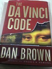The Da Vinci Code by Dan Brown 2003 Hardcover Book W/ Dust Jacket Vguc