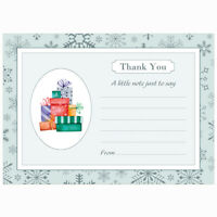 Fun Reindeer Christmas Thank You Note Cards With White Envelopes - Pack of 20