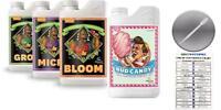 Advanced Nutrients Bloom Grow Micro 500mL Bud Candy 250mL w Got Hydro Card Pipe