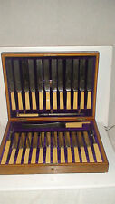 HENRY ROGERS SONS & CO. 12PCE. PLACE SETTING KNIFE-CARVING DINING  SET