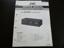Original Service Manual Schaltplan JVC TD-W11