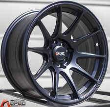 XXR 527 16X8.25 Rims 4x100/114.3 +0 Black Wheels (Set of 4)