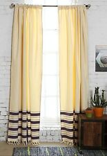 """Urban Outfitters Locust 4040 Grey Stripe Curtain With Tie Back 52""""X 96"""" Purple"""