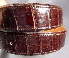 """Genuine Brown Alligator-Crocodile skin Waist 37-38 Belt Size 39-40 x 1.5"""" wide"""