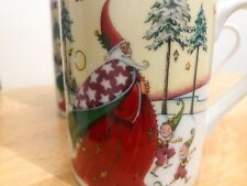 Mary Engelbreit Enesco Santa Magic Of Christmas 3 mugs 2001