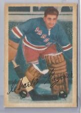 1953-54 Parkhurst Hockey Chuck Rayner Card # 59 Excellent Condition