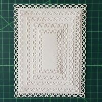 Lace Nested Stitched Rectangle Frame Metal Cutting Dies DIY Etched Dies Craft UK