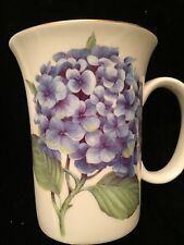 GRACE TEAWARE WHITE+BLUE FLOWERS TEA,COFFEE MUG,CUP -NEW, FREE SIPPING