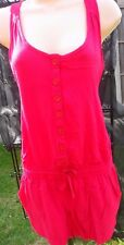 NEXT PINK SHORT PLAYSUIT WITH RACER BACK AND BUTTON FRONT SIZE 8 BNWT