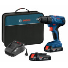 """Bosch 18V Compact 1/2"""" Drill/driver Kit w/ 2-Slimpack Batteries & Carrying Case photo"""
