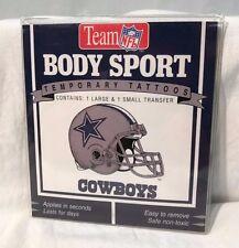 *Lot of 5* Team NFL Dallas Cowboys Helmet and Text Temporary Tattoos