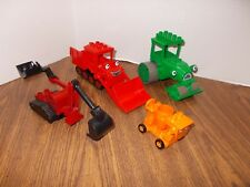 Bob the Builder Duplo Lego Lot - Dizzy Cement Mixer-Roly Steam Roller-Muck ++++