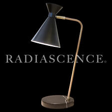 GERALD THURSTON LIGHTOLIER ATOMIC MODERN BRASS MARBLE TABLE LAMP PIERRE GUARICHE