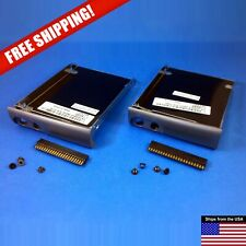 New listing 2pc Lot Dell D500 D600 Hard Disk Drive Hdd Caddy Tray Ide Connector Screws 0R854
