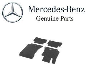 For Mercedes-Benz W211 E Class Carpeted Floor Mat Set Black Genuine B66294131