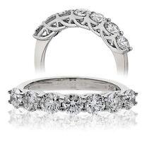 18CT WHITE GOLD 0.50CT GSI DIAMONDS 7 STONE HALF ETERNITY LADY RING GOY178