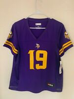 Adam Thielen Minnesota Vikings Majestic Hashmark Player Name & Number T-shirt