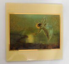 Vintage A.R.T. Co. Ceramic Art Tile Farie Gold John Grimson Spirit of the Night