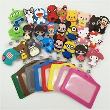 Cartoon Retractable Pant Clip ID Badge Card Holder Business Security Pass Tag