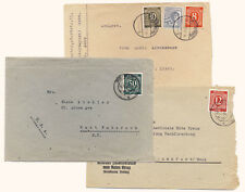 Germany c1946 Lot of 3 Occupation Covers Russian Zone Numerical Stamps #526 551