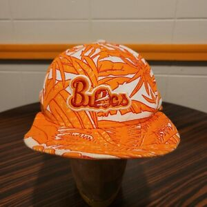Tampa Bay Buccaneers Zubaz Hat Creamsicle Orange Tropical Floral Snapback VTG