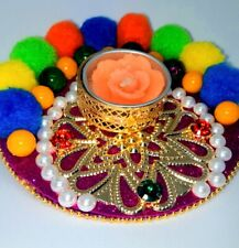 Decorative Floating Diyas for Diwali and Festivals - with two candles