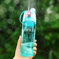 Outdoor Sport Bottle Portable Travel Water Drinking Cup Leak Proof Spray Bo Y1G7