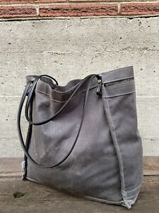 Rough And Tumble Farmers Market Tote Bag Large The Original Gray Waxed Canvas