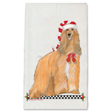 Afghan Hound Dog Christmas Kitchen Towel Holiday Pet Gifts