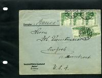 Germany, Bremen ''LINIENNETZ NEPTUN''  To New YORK  U.S.  1937