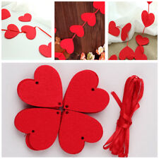 DIY Happy Family Love Heart Curtain Non-woven Garland Flags Banner Wedding Decor