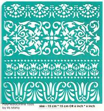 Stencil Ethnic Borders Pattern Reusable Adhesive Flexible Henna Sticker Tattoo