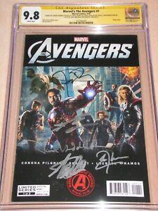 Avengers 1 CGC 9.8 SS sign Stan Lee Chris Evans Renner Cheadle Brolin Hiddleston