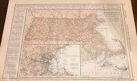 1908 Maryland Delaware DC & Massachusetts Maps, Railroads, Counties, Rivers