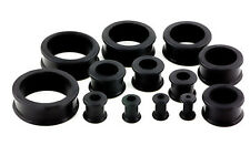 1 Or 2 Black Flexible Silicone Flare Ear Tunnel - Choose Size 6g to 51mm  #FL1