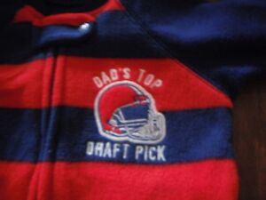 """"""" DADS TOP DRAFT PICK """" NEW TCP BABY BOY 1PC FOOTED Layette PAJAMAS 6-9 months"""