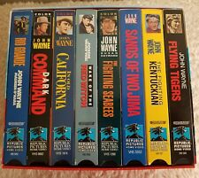 John Wayne Larger Than Life VHS Movie Collection 8 Movies Republic Home Video