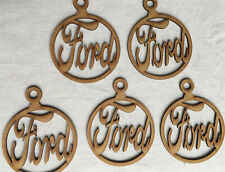 Christmas Tree Bauble. Ford Car Logos Theme Decoration MDF Craft (Set Of 5).