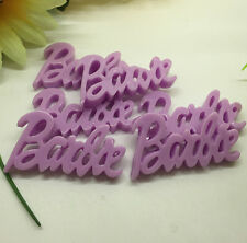 30Pcs purple  barbie Kawaii Flatback Scrapbooking Resin Cabochons Craft