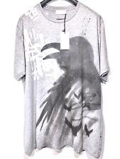 FAITH CONNEXION Mens Crow Tag Graphic Spray Print T Shirt Gray L (MSRP $550)