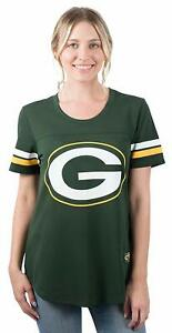Green Bay Packers Shirt Jersey Mesh Crew Short Sleeve Green NFL Rodgers Large