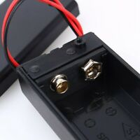 1x 9V Volt PP3 Battery Holder Connector Storage Case Box ON/OFF Switch