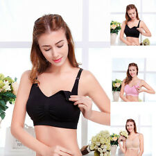 Favorite Maternity Bras Nursing Bra Front Open Wire Free Padded Seamless Stretch