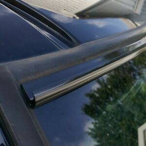 Black Automotive Windshield Rain Gutter Guard Deflector Strip For Volvo Models