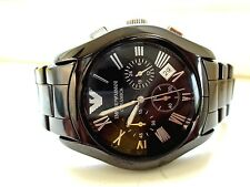 Emporio Armani Men's Chronograph Black Ceramic Bracelet watch $495.00 NICE!
